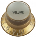 Top hat knob, Volume Gibson style gold