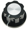 Pointer knob with aluminum inlay, small