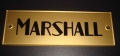 Marshall gold block logo / name plate, plexi