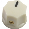 Pointer Knob Classic Small, Fluted cream