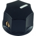 Pointer Knob Classic Small, Fluted black
